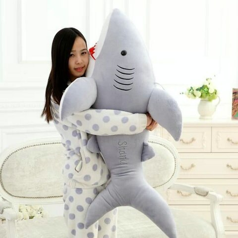 High Quality 70cm Shark Plush Toy Stuffed Pillow Doll Birthday Gift Kids Toy Bab image 6