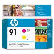 HP 91 (C9461A) Magenta and Yellow DesignJet Printhead  - $256.36
