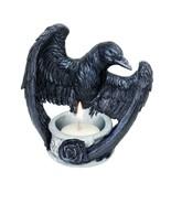 Alchemy Gothic Black Raven Poe Rose Tea Light Candle Holder Open Wings V... - $24.95