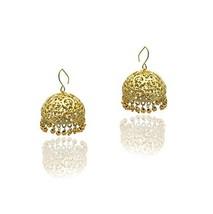 Moonstruck Traditional Indian Golden Jhumka Earrings for Women - $15.09