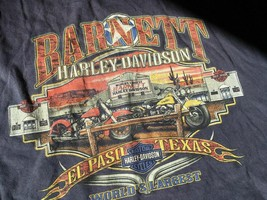 Harley Davidson Barnett El Paso Texas Blue XL TShirt Used Worn  021-61 - $15.95