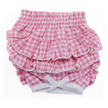 Ruffled Pink Gingham Dog Panties - $19.99