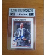 LENNY WILKINS signed autographed card Hall of Fame Coach & player CAS Au... - $12.38