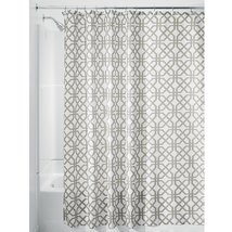 InterDesign Trellis Shower Curtain, Stall-Sized Water-Repellent and Mold... - $15.79