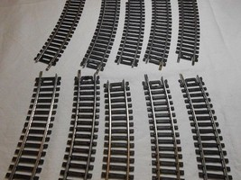 "MODEL POWER HO SCALE 18"" RADIUS CURVED TRAIN TRACK CODE 100 (10 PIECES) - $14.95"