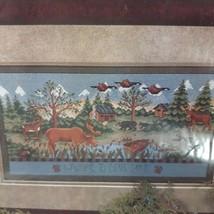 Stoney Creek Collection Bear Lake Cross Stitch KNew Sealed Moose Geese Bear Boat - $13.10