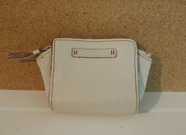 """Vintage Cole Haan Zip Ivory Leather Coin Purse 3"""" - $11.83"""