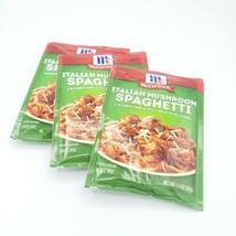 3 McCormick Italian Mushroom Spaghetti Sauce Mix Packet 1.5 oz Exp 08/2022 - $15.79