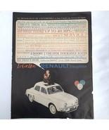 1960 Renault Dauphine Le Car Hot Automobile Car Vintage Magazine Print Ad - $7.60