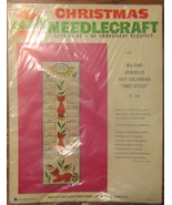 Bucilla 1972 Needlepoint Calendar  - $10.00