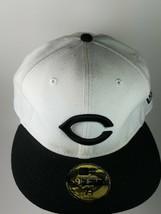 New Era 59FIFTY Cincinnati Reds C Black & White Fitted Cap Hat - $31.03