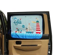 PANDA SUPERSTORE Lovely Cartoon Car Curtain Sunshade Drape Visor Car Window Curt