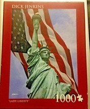 NEW Lady Liberty Dick Jenkins 1000 Piece Jigsaw Puzzle Andrews and Blain... - $13.86