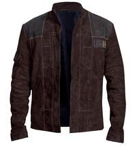 Han Solo A Star Wars Story Warrior Alden Ehrenreich Brown Suede Leather Jacket image 5