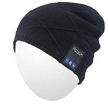Qshell Outdoor Bluetooth Beanie Hat Slouchy Knit Skully Cap with Wireless Blueto