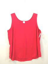 Faded Glory Womens Plus 2X (18W - 20W) Red Sleeveless Tank Cami - $9.73