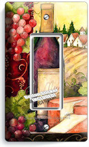Tuscan Country Wine Bottle Cheese Grapes 1 Gfci Light Switch Plate Kitchen Decor - $9.89