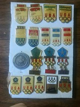 Set of 18 Chrysler, Dodge, Jeep olympic pins.(LOT) - $25.99