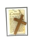 12 Cross in my pocket Olive wood Jerusalem Cruz en el Bolsillo COMMUNION... - $14.85