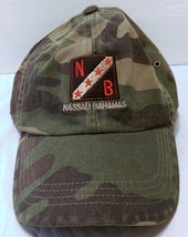 Nassau Bahamas Camouflage Adjustable Strap Hat Caribbean Islands Militar... - $25.24