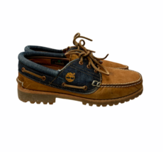 Timberland Authentics 3 Eye White Oak Denim Selvedge Boat Shoes 10 Ltd E... - $229.99