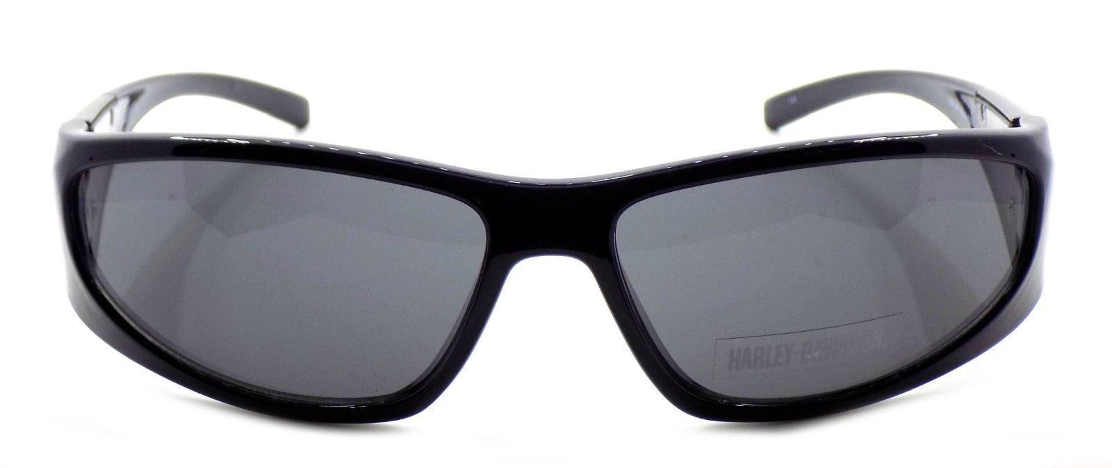 Harley Davidson HDX871 NV Wraparound Sunglasses Navy Blue 63-15-130 Smoke + CASE