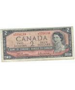 1954 Canada Circulated  2 Dollar Bill - $5.99