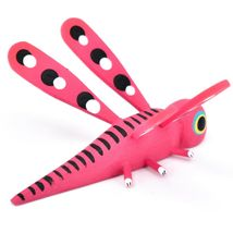 Handmade Oaxacan Alebrijes Wood Carved Painted Folk Art Dragonfly Insect Figure image 4