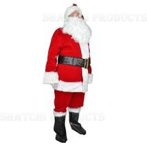 EXTRA LARGE Deluxe Plus 8pcs Velvet Santa Suit Father Christmas Fancy Co... - $89.99