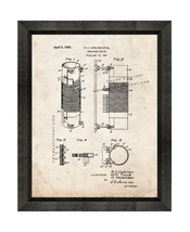 Inductance Device Patent Print Old Look with Beveled Wood Frame - $24.95+