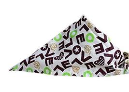 PANDA SUPERSTORE 2 Pieces Fashionable Cute Pets Triangle Scarves/Headscarf, Love