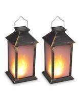 "13"" Vintage Style Solar Powered Candle Lantern(Metallic Coating Black, P... - $53.02"