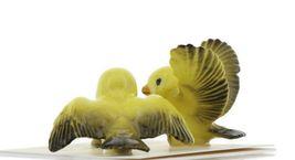 Hagen Renaker Miniature Canary Family Ceramic Bird Figurine Set of 3 image 5