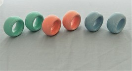 Vintage Cloth Napkin Ring/Holder Set of 6 – Glazed Ceramic/Porcelain - U... - $14.50