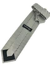 New KENNETH COLE New York SILK TIE Gray & White Men's Neck Tie Designer - $13.95