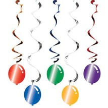 Balloon Blast 5 Ct Dizzy Danglers Hanging Decorations Birthday Party - $4.39