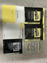 2001 Toyota Highlander Servizio Negozio Riparazione Manuale Set OEM Con ... - $143.49