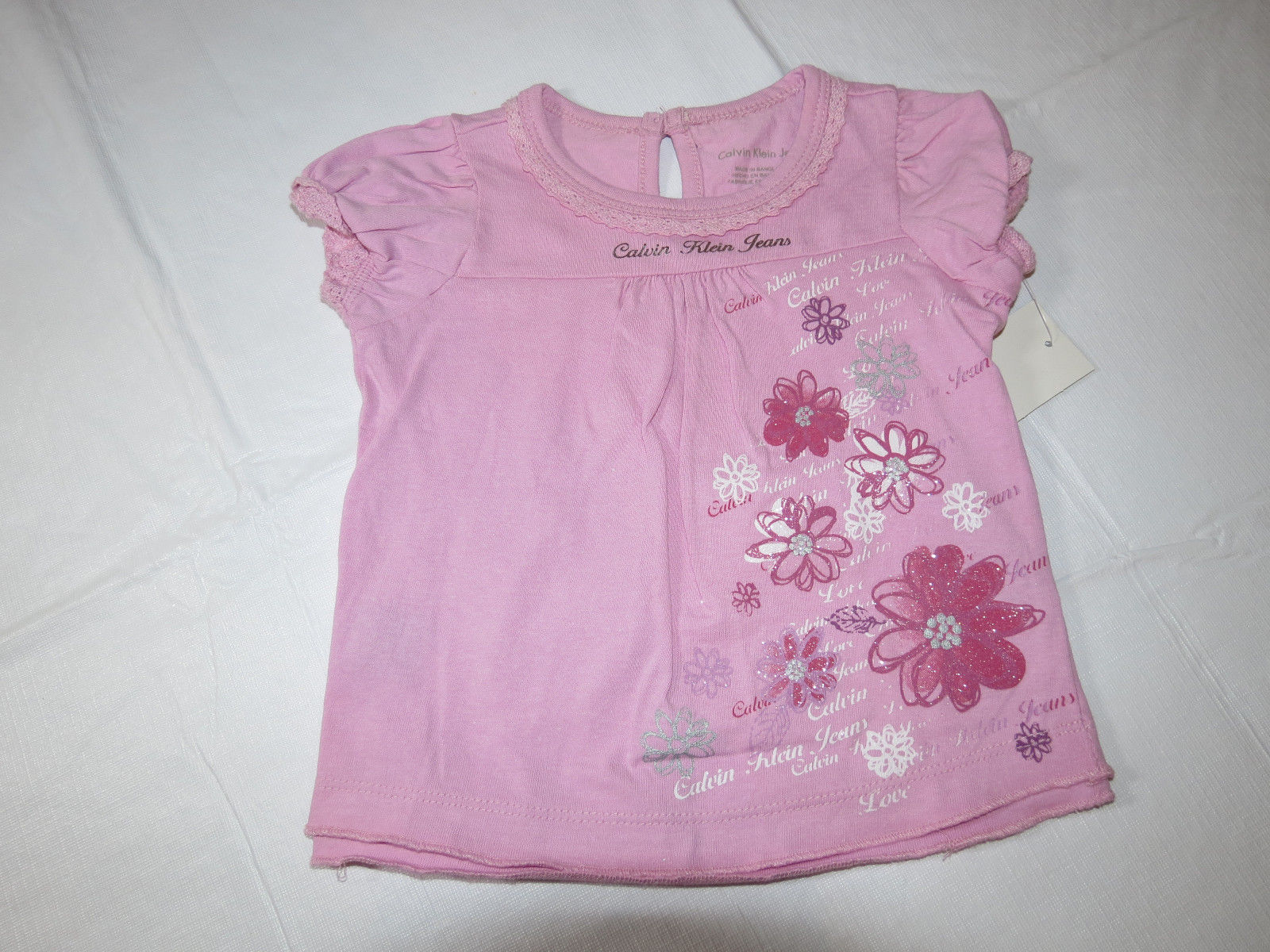 Calvin Klein baby girls 3 PC dress leggings Pink & denim 24M 3703091-99 NWT^^