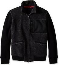 NWT Nautica Men's Mixed Media Track Jacket, True Black Size S - $58.81