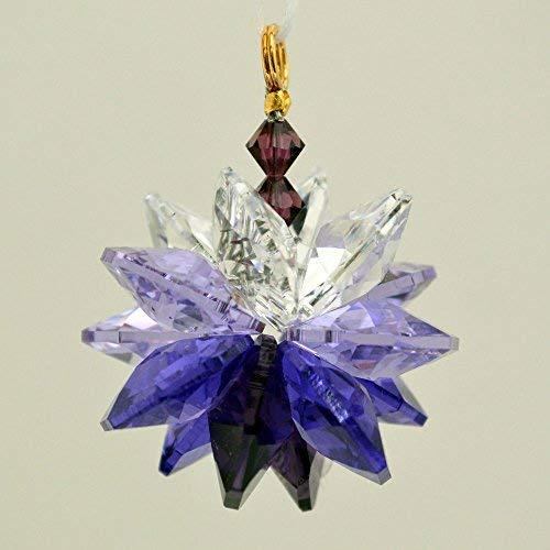 Purple Ombre Small Suncluster with Austrian Crystal