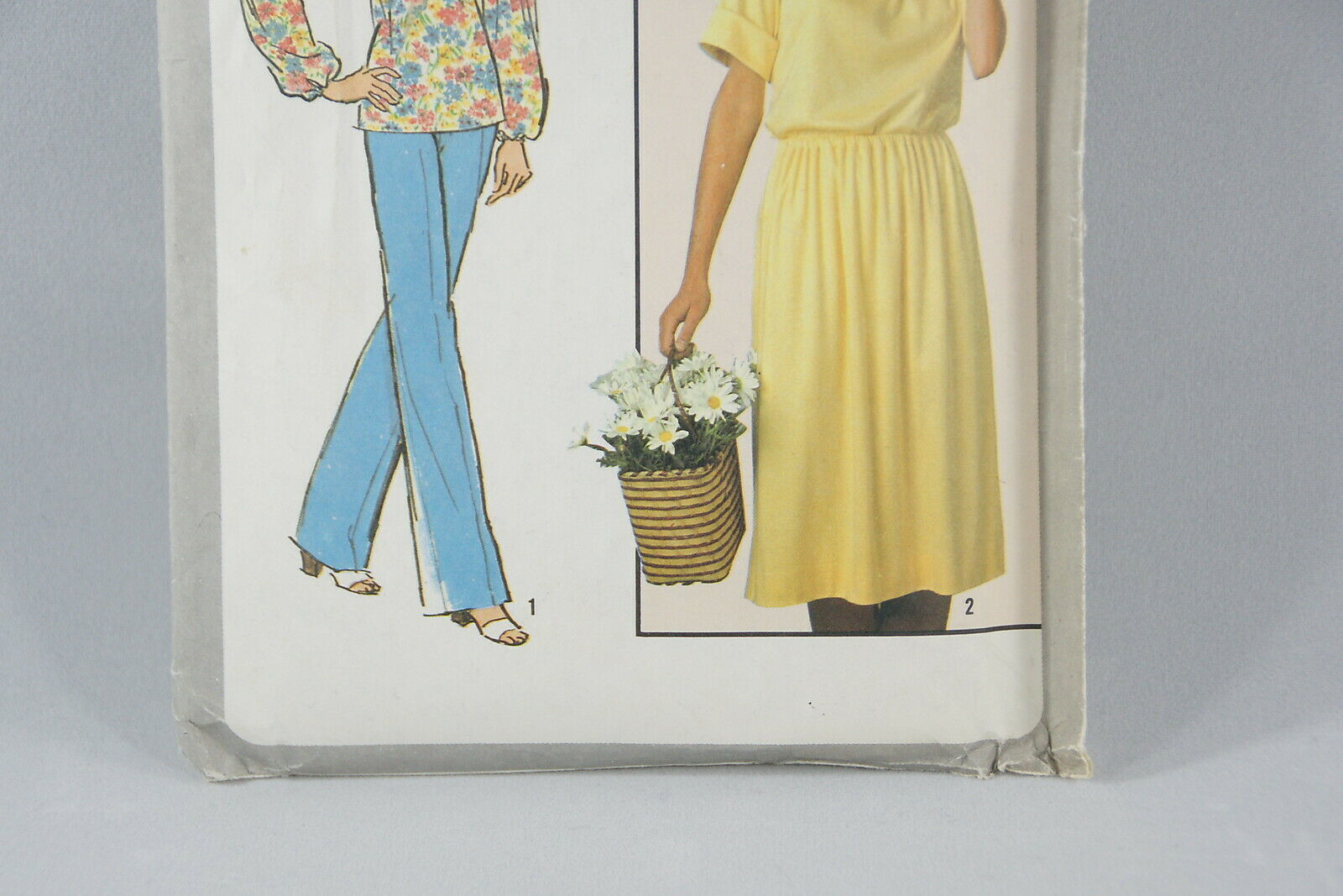 Simplicity Top Pants Skirt Sewing Pattern 8352 Vintage Cut