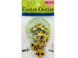 Eyelet Outlet Bumble Bee Brads, Set of 12