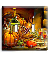 COUNTRY HARVEST WINE CORN SINGLE LIGHTSWITCH WALL PLATE COVER HOME KITCH... - $11.97