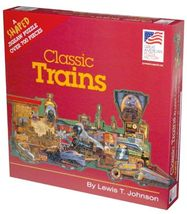 Jigsaw Puzzle, Classic Trains, 700 Pieces, Shaped As A Train - $15.99