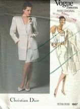 1867 UNCUT Vogue Sewing Pattern Misses Jacket Top Skirt Christian Dior P... - $14.99
