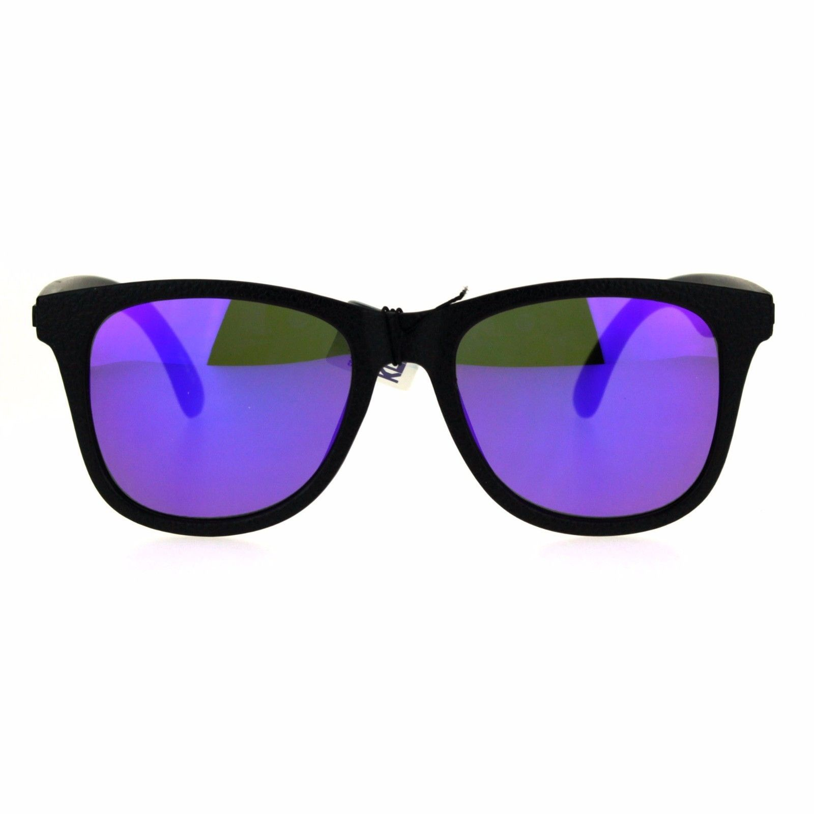 63b74d2c9 KUSH Sunglasses Unisex Classic Square Textured Black Frame Mirror Lens UV  400