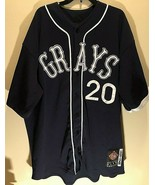 1929-1948 Homestead Grays Josh Gibson #20 HOF Negro League Dark Blue Jer... - $89.09