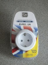 Go Travel Earthed European to UK Adapter EU to UK Converter Adapter - $11.63