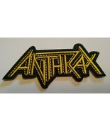 """Anthrax Heavy Metal Patch~Embroidered Applique~3"""" x 1 3/8""""~Iron Sew~NEW    - $3.65"""