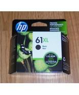 Genuine HP 61XL Black Ink Cartridge New In Box  2021       CH563WN 61 XL - $29.91